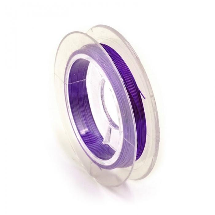 Проволока ?0,3мм арт.ТВ HET-12 цв.фиолетовый рул.50м
