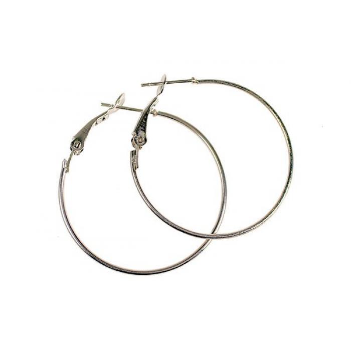 Застежка для сережек Кольцо арт TBY-K30 30мм цв.серебро
