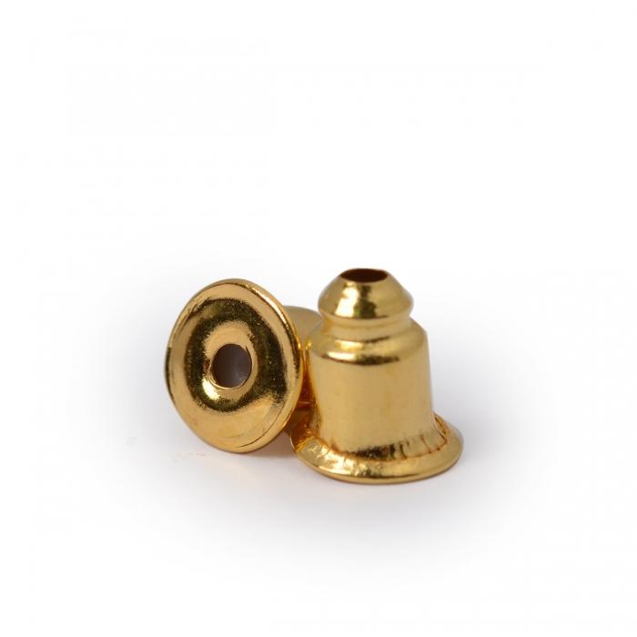 Зажим для сережек MAGIC 4 HOBBY арт.MH.111948-1 цв. золото 5х4 мм уп.200 шт