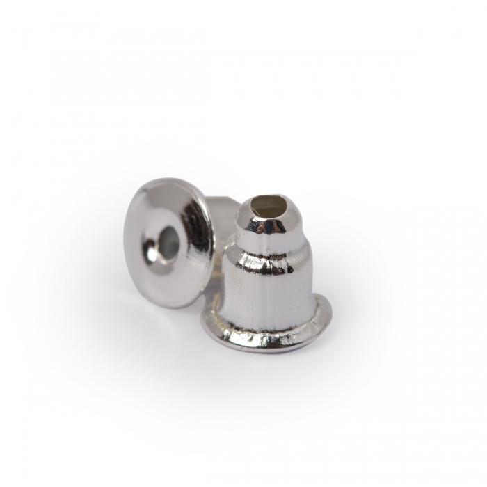 Зажим для сережек MAGIC 4 HOBBY арт.MH.111948-2 цв. серебро 5х4 мм уп.200 шт