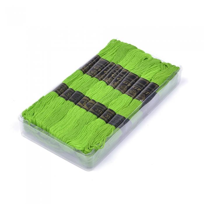Нитки мулине IDEAL арт.МШ (100% хлопок) 24х8м цв.318 св.зеленый