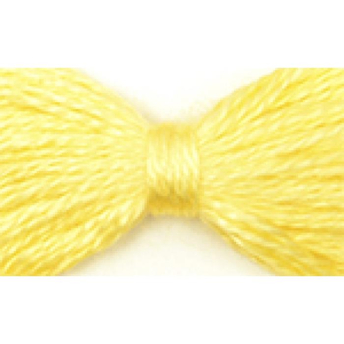 Нитки мулине цв.0301 желтый 12х10м С-Пб