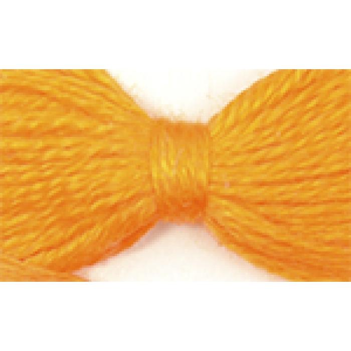 Нитки мулине цв.0607 оранжевый 12х10м С-Пб