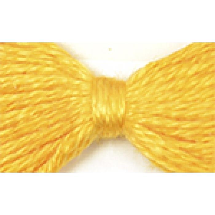 Нитки мулине цв.0404 желтый 12х10м С-Пб