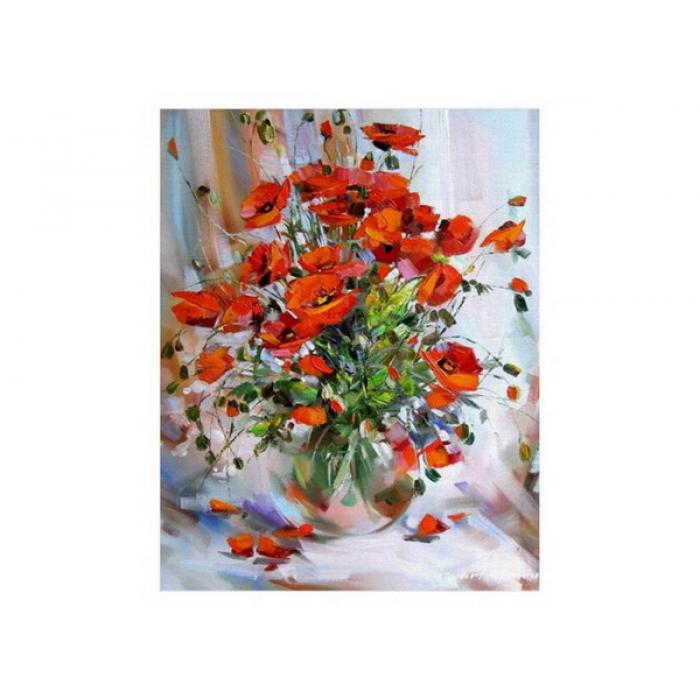 Картины по номерам Белоснежка арт.БЛ.003-AB Букет маков 40х50 см