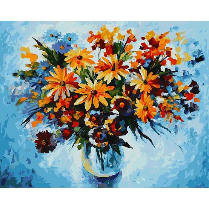 Картины по номерам Белоснежка арт.БЛ.920-AB Разноцветные ромашки 40х50 см