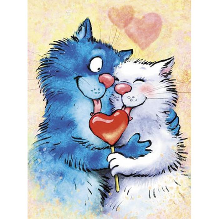 Картины по номерам Влюбленные ME1130 30х40 тм Цветной
