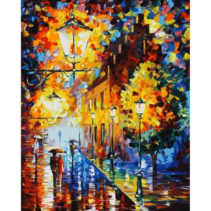Картины по номерам Белоснежка арт.БЛ.868-AB Огни в ночи 40х50 см