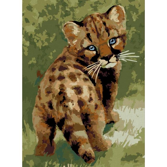 Картины по номерам Белоснежка арт.БЛ.008-CE Детеныш леопарда 30х40 см
