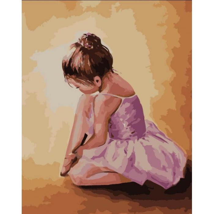 Картины по номерам Балерина малышка MG2055 40х50 тм Цветной