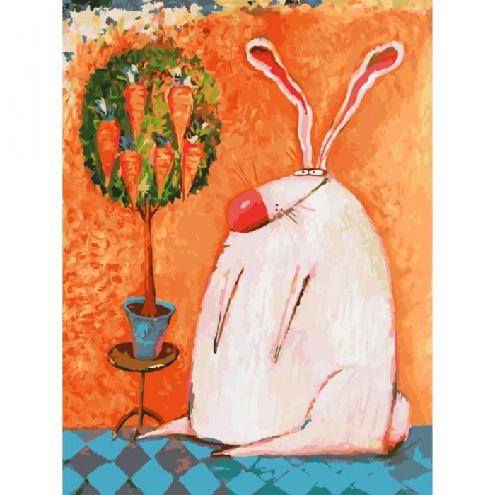 Картины по номерам Белоснежка арт.БЛ.753-AS Счастливый кролик 30х40 см