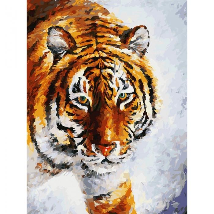 Картины по номерам Белоснежка арт.БЛ.780-AS Тигр на снегу 30х40 см