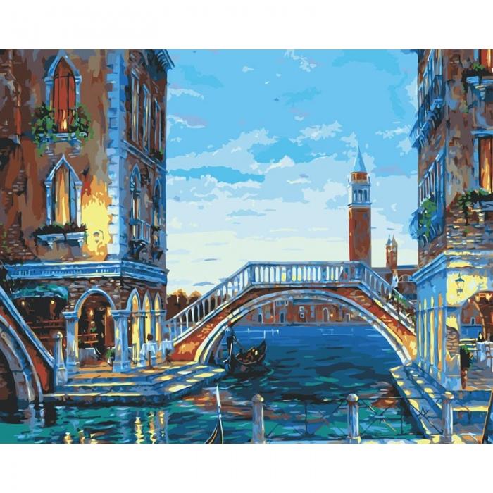 Картины по номерам Белоснежка арт.БЛ.624-AB Каналы Венеции 40х50 см