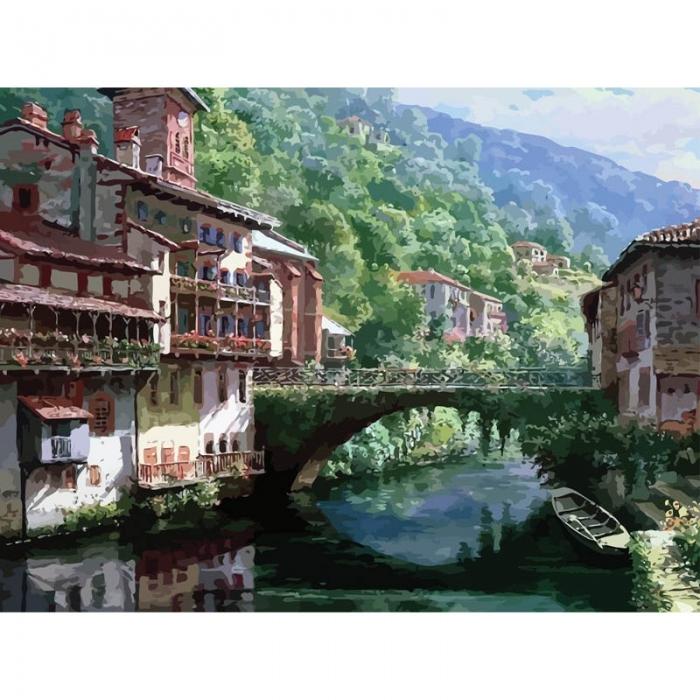 Картины по номерам Белоснежка арт.БЛ.632-AB Древний мост 40х50 см