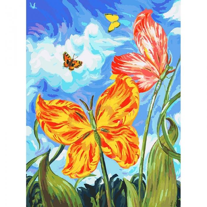 Картины по номерам Белоснежка арт.БЛ.755-AS Бабочки 30х40 см