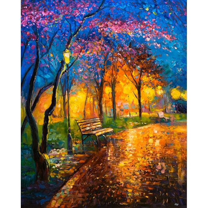 Картины по номерам Вечерний теплый парк MG2411 40х50 тм Цветной