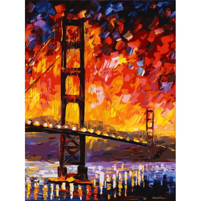 Картины по номерам Белоснежка арт.БЛ.777-AS Мост Золотые ворота 30х40 см