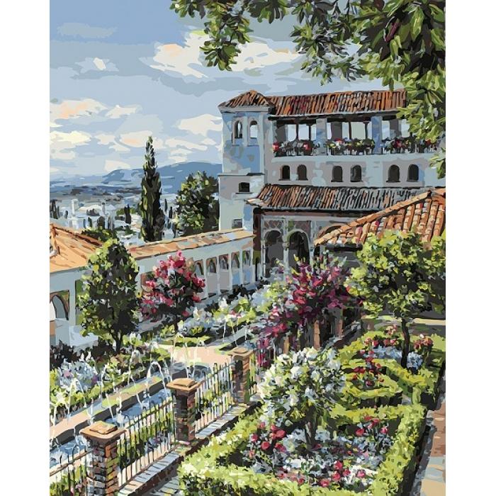 Картины по номерам Белоснежка арт.БЛ.953-AB-R Сады Гранады 40х50 см