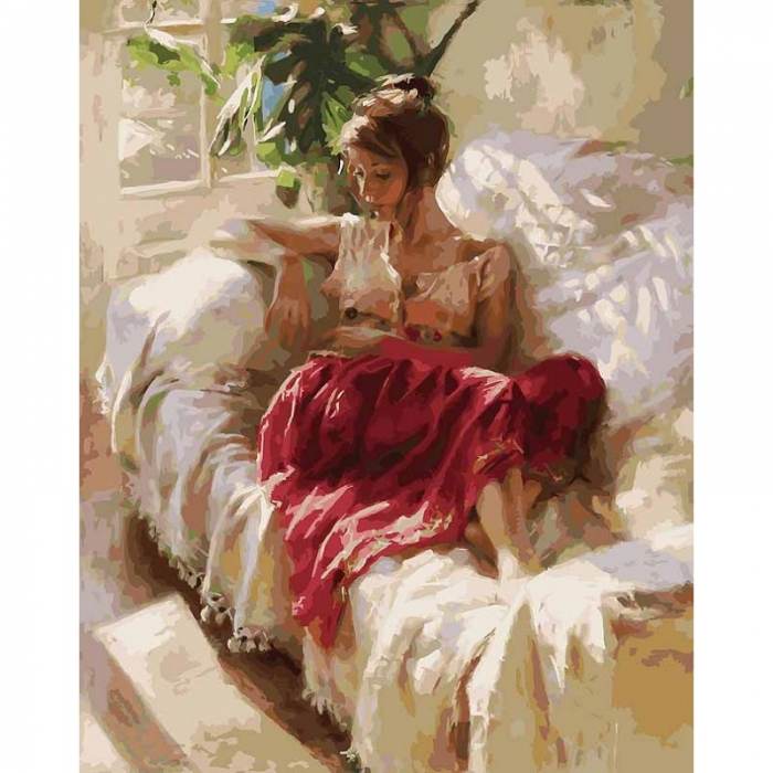 Картины по номерам Белоснежка арт.БЛ.934-AB Полуденный отдых 40х50 см