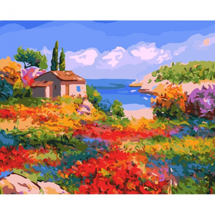 Картины по номерам Белоснежка арт.БЛ.807-AB Солнечный Прованс 40х50 см