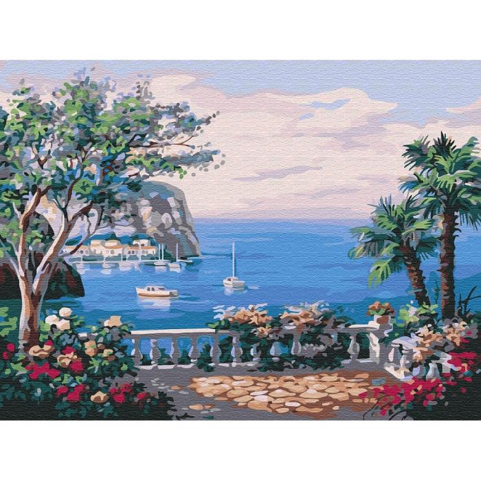 Картины по номерам Вид на море EX5220 30х40 тм Цветной