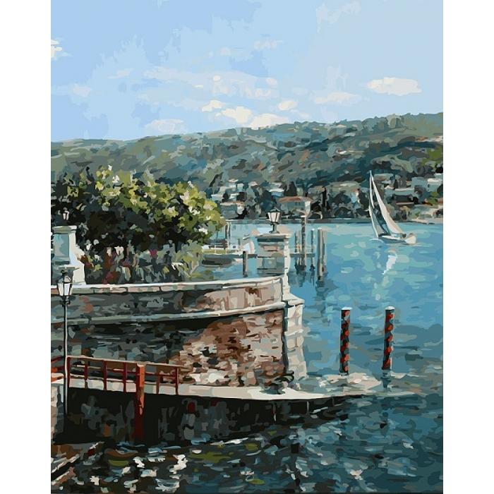 Картины по номерам Белоснежка арт.БЛ.951-AB-R Изола-Белла на озере Лаго-Маджоре 40х50 см
