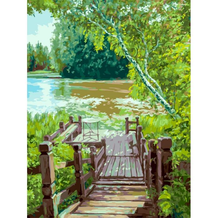 Живопись на картоне Белоснежка арт.БЛ.3280-CS Лесенка 30х40 см