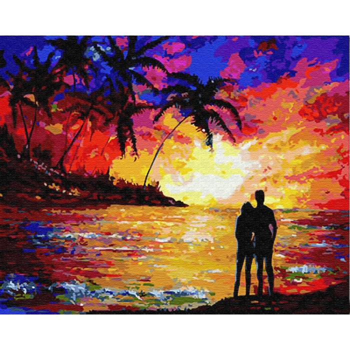 Картины по номерам Влюбленные на закате GX23465 40х50 тм Цветной