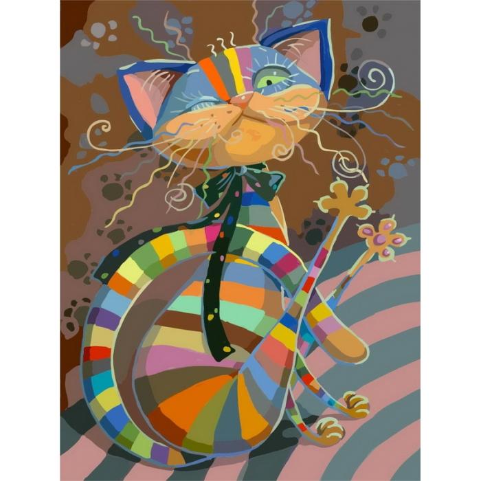 Картины по номерам Белоснежка арт.БЛ.812-AB Полосатый разбойник 40х50 см