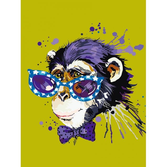 Картины по номерам Disсo Monkey ME1119 30х40 тм Цветной